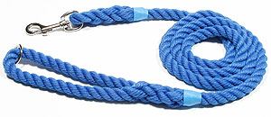 KJK Rope Dog Leads high quality rope and braided dog slip and clip leads, whistle lanyards in cord and leather, rope and braid leads, knot balls and calving, lambing ropes and small halters.